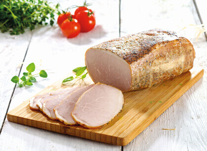 Roasted pork ham