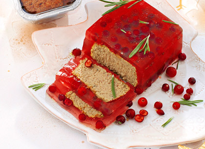Pate in cranberry aspic