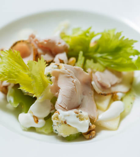 Pear, Blue Cheese and Pork Loin Salad